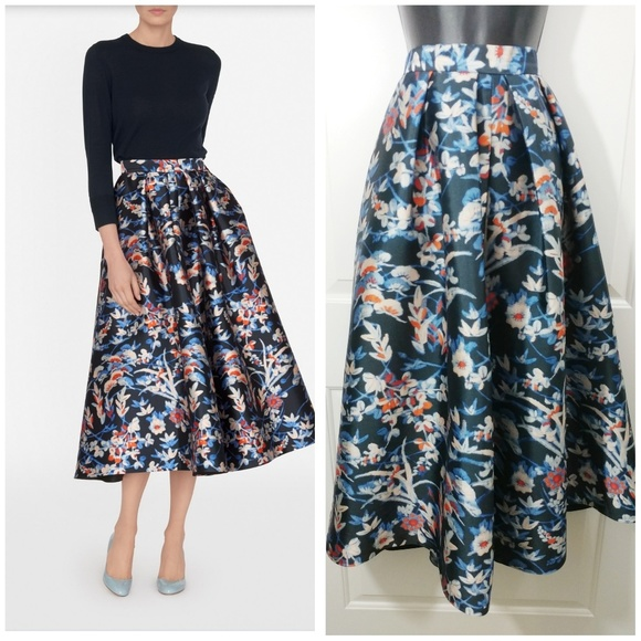 0279a1bb3a LK Bennett Skirts | Tansia Floral Midi Skirt 12 Large Xl | Poshmark